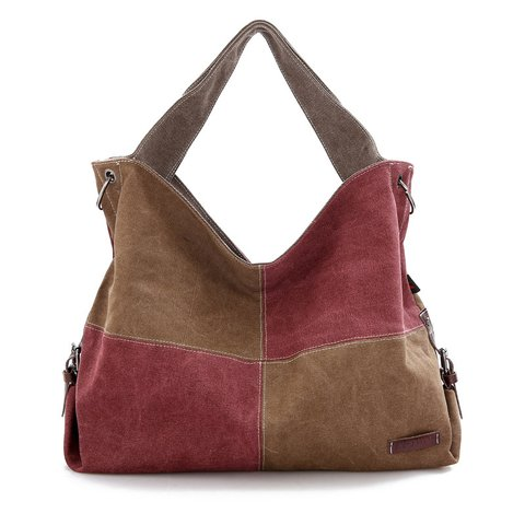 Womens Large Capacity Canvas Zipper Tote Bags