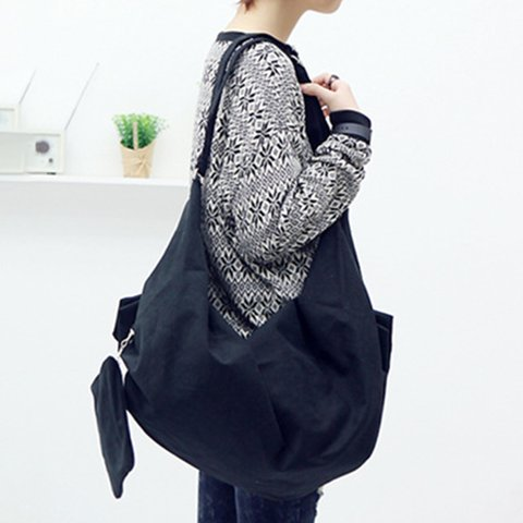 Womens Large Capacity Canvas Zipper Casual Message Bags Shoulder Bags Backpack