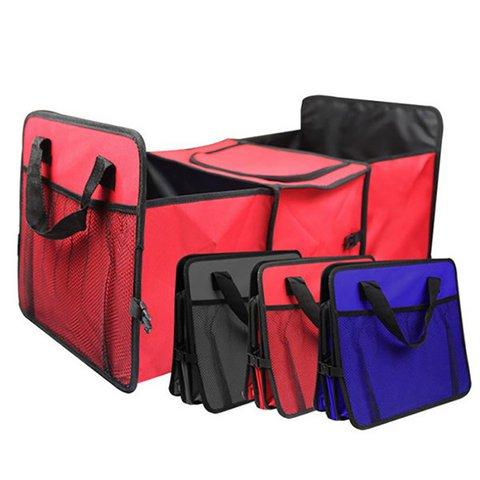 Foldable Multi Function Compartment Fabric Car Truck Van SUV Heat Retaining Storage Bag