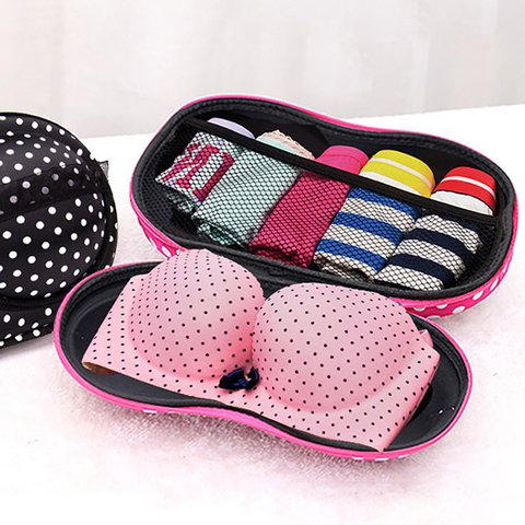 Women EVA Travel Bra Underwear Storage Box Portable Underwear Organize Bag Women's Storage Bag