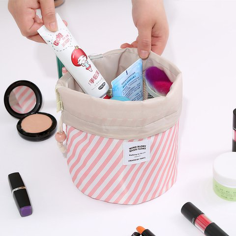 Woman Print Cosmetic Storage Kit Toiletry Kit Bathroom Amenities Travel Storage Bag