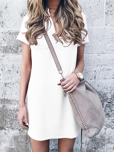 JustFashionNow Plus Size V-Neck Women Summer Dress Daily ...