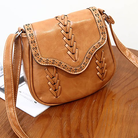 Womens Vintage Casual Magnetic PU Crossbody Bags