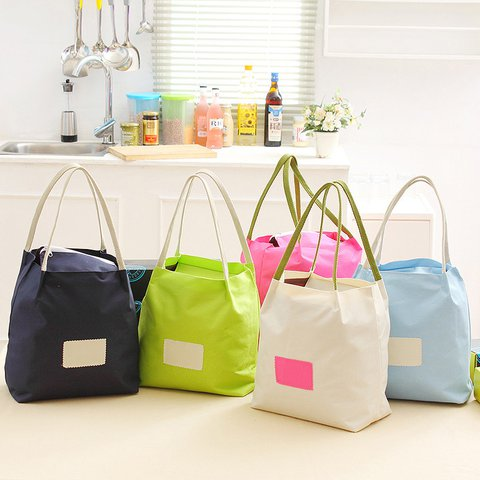 Oxford Waterproof Bento Lunch Bag Grocery Bag Travel Beach Camping Picnic Storage Organizer Bag