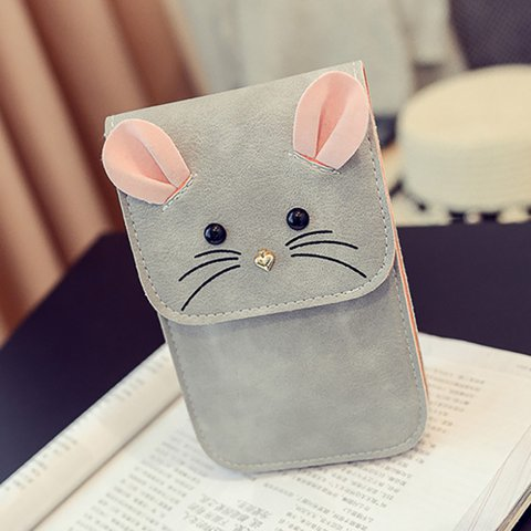 Womens Animal Cute PU Casual Magnetic Phone Bags Crossbody