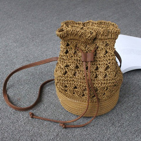 Womens Straw Casual Crossbody Bags