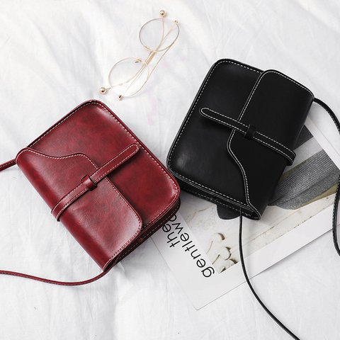 Womens Casual PU Vintage Crossbody Bags
