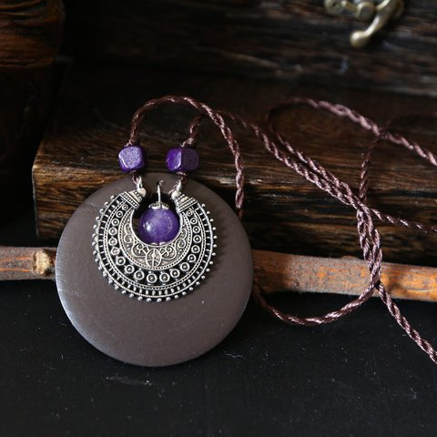 Round Casual Alloy Sweater Necklace