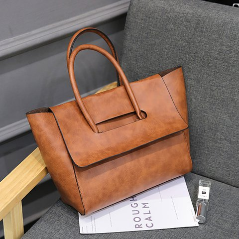 Womens Newest PU Magnetic Tote Bags