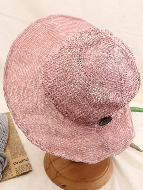 Women s Foldable Cotton And Linen Sun Beach Sun Hat Outdoor Summer Travel  Straw Hat 570880cad12