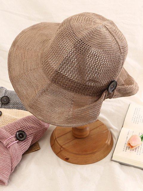 dee5e1a9beb40 Women s Foldable Cotton And Linen Sun Beach Sun Hat Outdoor Summer Travel Straw  Hat