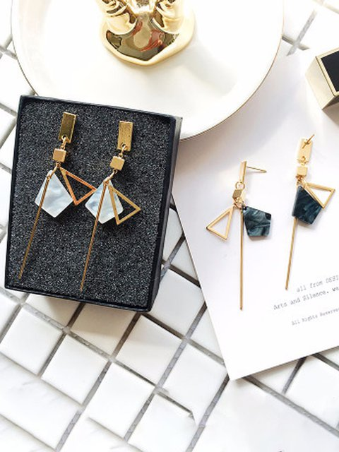 Simple personality geometric earrings long earrings earrings female personality pendants trendy Earrings