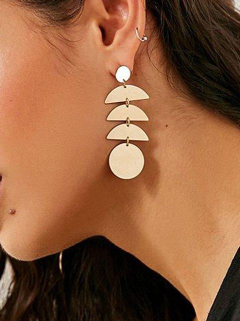 Womens Pendant Metal Long Earrings