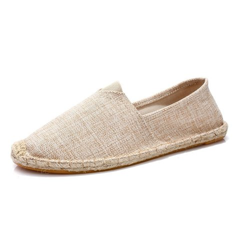 Women Canvas Loafers Casual Comfort Plus Size Shoes