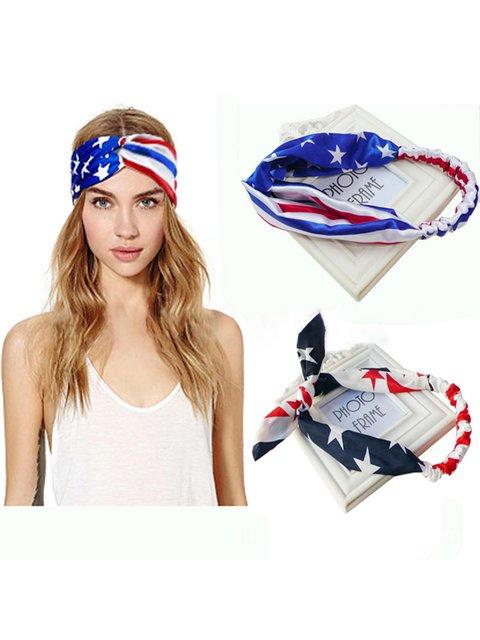 Womens Flag Printed Headbands