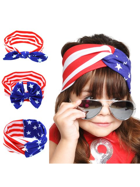 Kids Casual National Day Knot Headbands