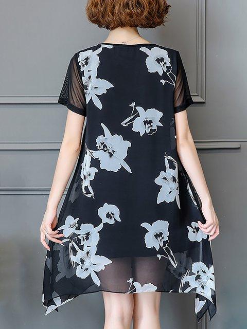 Short line Basic Women Black Dress A Elegant Sleeve Daily wpWqSv1SI