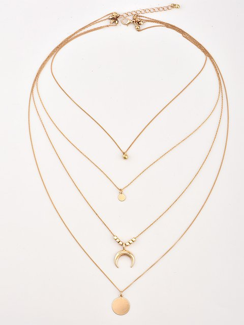 Womens  Alloy Drop Necklaces