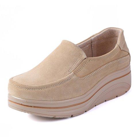 Women Platform Loafers Casual Comfort Plus Size Shoes
