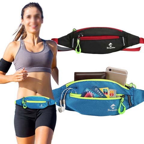 Womens Mens Waterproof Zipper Casual  Phone Pocket Case Sports waist Bag