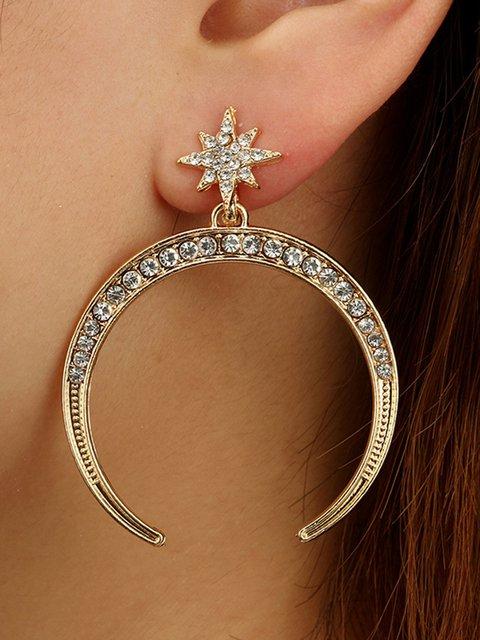 Womens Alloy Simple Earrings