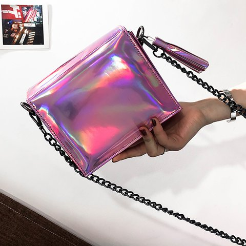 Womens Magnetic PU Casual Chain Crossbody Bags