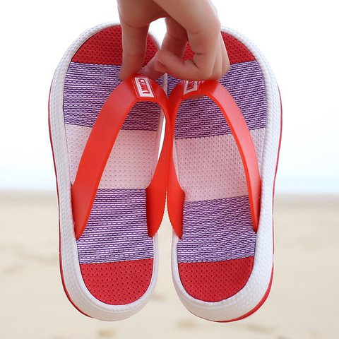 Women Flip Flops Slippers Casual Platform Clip Toe Home Beach Shoes