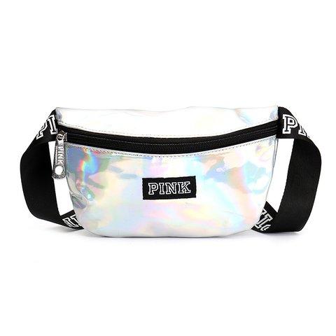 Womens PU Zipper Casual Waist Bags