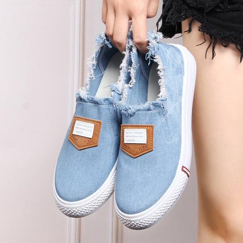 Women Flats Round Toe Loafers Casual Slip On Shoes