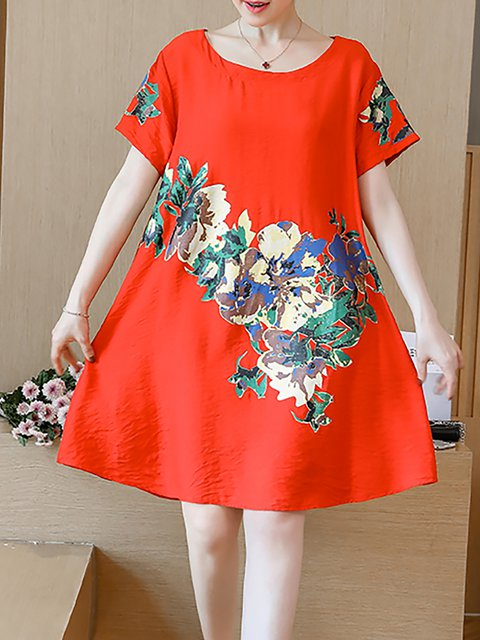 Shift Women Daytime Short Sleeve Printed Casual Dress