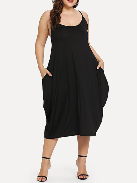 Black Cocoon Women Daytime Casual Sleeveless Paneled Solid Summer Dress