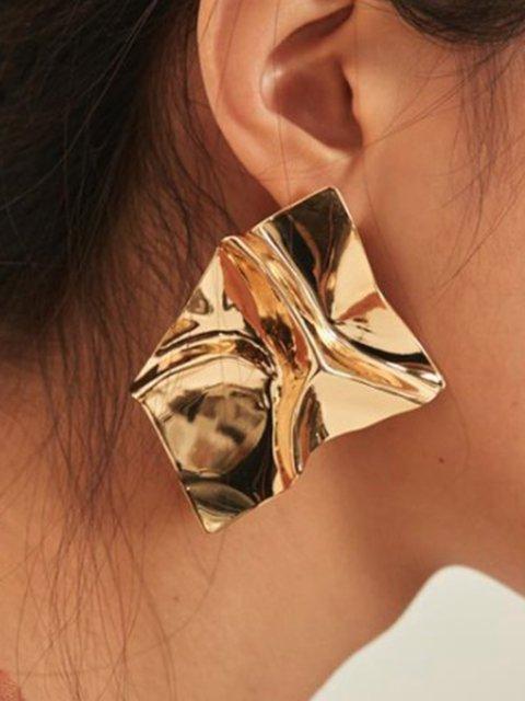 New simple irregular block metal texture sequins fashion earrings