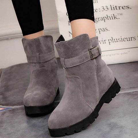 Women Flocking Booties Casual Comfort Plus Size Warm Shoes
