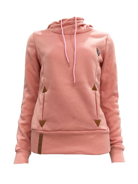 Long Sleeve Cotton-blend Casual Hoodie Solid Sweatshirts  Hoody