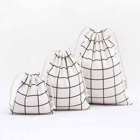 Simple Travel Versatile Cotton Drawstring Storage Bag