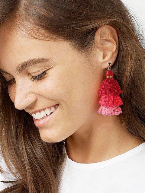 Womens Tassel Earrings