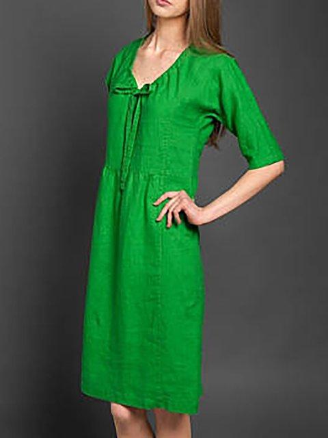 8aca21df60 ... Plain Daily Linen Women Summer Paneled Half Dress Basic Sleeve wgFwvqZY  ...