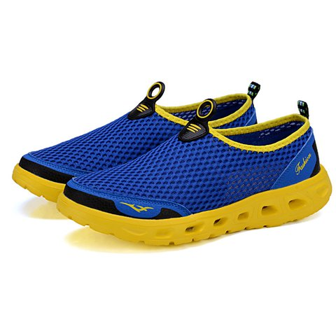 Men Honeycomb Mesh Quick Drying Upstream Shoes Casual Beach Shoes