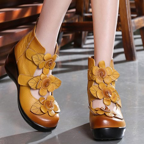 Women Flower Sandals Casual High Quality Shoes