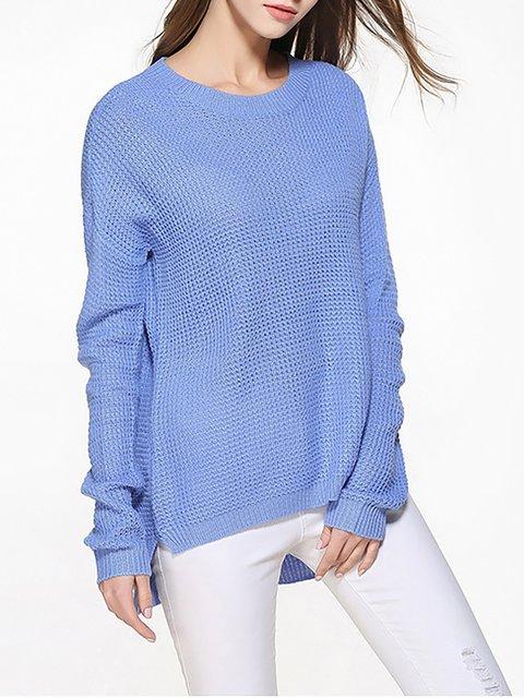 Long Sleeve Acrylic Crew Neck Casual Chic Sweater