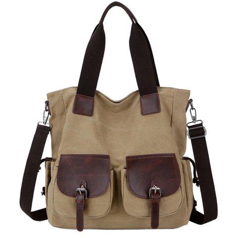 Women's Casual Canvas Zipper Versatile Shoulder Bags