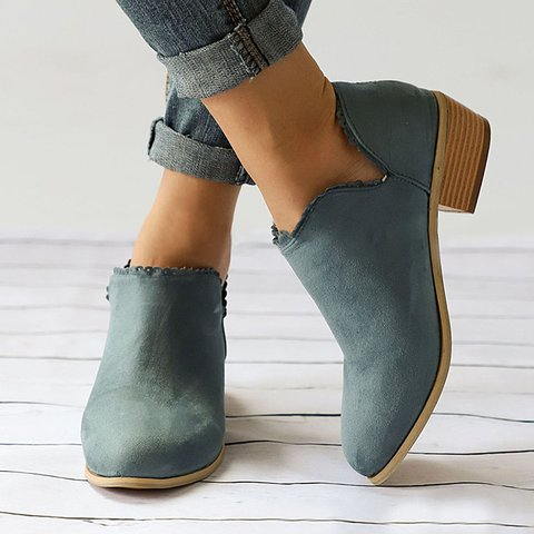 Women Ankle Booties Casual Slip On Comfort Plus Size Shoes