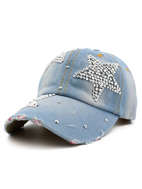 Womens Rhinestone Canvas Hats