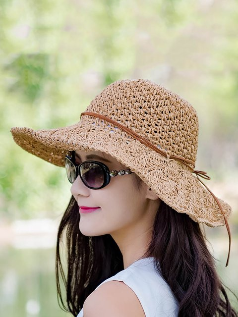 Womens Woven Summer Beach Hats