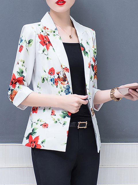 Cardigan Dyed Elegant Size Long Shawl Collar Paneled Floral Sleeve Plus Printed x1zv0ddwMq