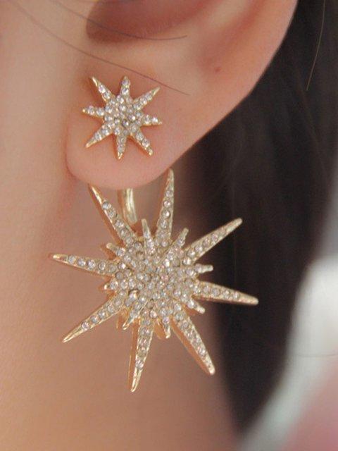 Womens Single Piece Diamond-mounted Snowflake Earrings