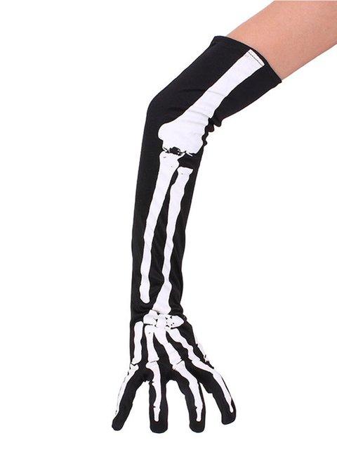 Mens Halloween Skull Gloves