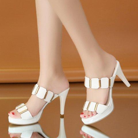 Women PU Pumps High Heel Sexy Shoes