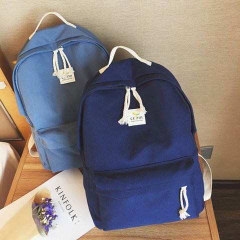 Women Campus Canvas Zipper Backpacks for Teenager