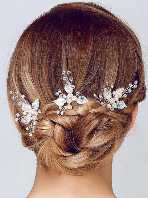 Womens Rhinestone Pearl Hair Accessories